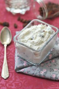 Mazsolás túrókrém desszert - gluténmentes desszert