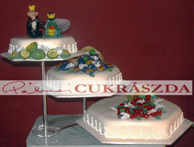 gluténmentes esküvői torta Pálmai Cukrászda Budapest, Rákosszentmihály.Gluténmentes tortarendelés gluténmentes esküvői torta