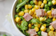 Borsós-kukoricás gluténmentes saláta