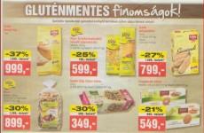 Gluténmentes termék akciók 2014 augusztus első felében