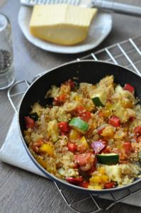 Quinoa a nyár zöldségeivel - gluténmentes recept