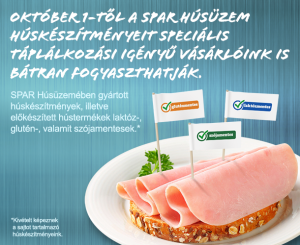 2014. október 1-től a SPAR húsüzem termékei gluténmentesek.