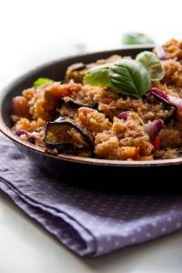Padlizsános quinoa-rizotto. Gluténmentes recept