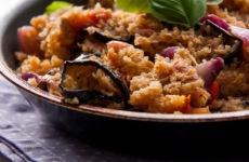 Padlizsános quinoa-rizottó - gyors vitamindús ebéd