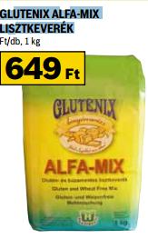 Glutenix Alfa-Mix lisztkeverék akció Auchan