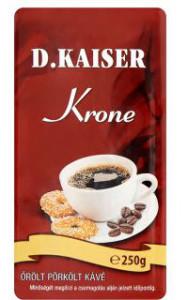 D. Kaiser Krone őrölt pörkölt kávé gluténnel mikotoxinnal szennyezett