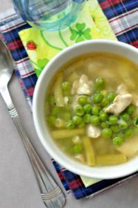 borsóleves csirkével gluténmentes recept