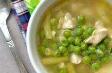Újhagymás csirkeragu leves gluténmentes