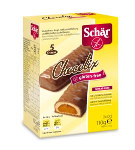Schär Chocolix karamellával töltött gluténmentes keksz csokiba mártva