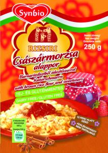 Rizsiri gluténmentes császármorzsa alap édesítőszerrel és barna rizzsel