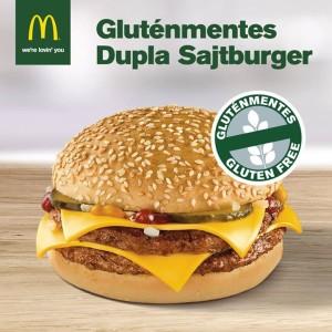 gluténmentes sajtburger a McDonald's éttermeiben