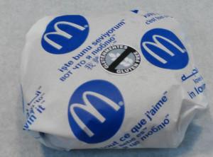 mcdonalds gm sajtburger gluténmentes jelöléssel