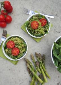 zöld kölesrizottó gluténmentes recept