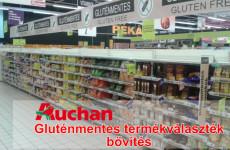 Gluténmentes élelmiszer választékbővítés az Auchan áruházakban