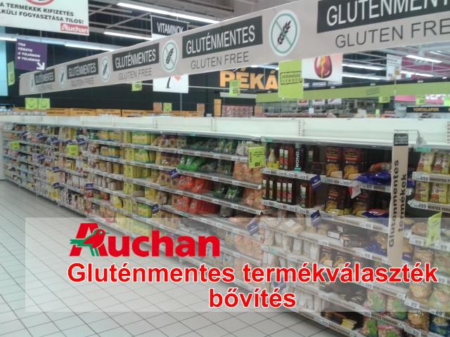 Auchan gluténmentes élelmiszerek, gluténmentes termékek