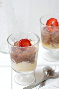 rebarbarás epres fagyis gluténmentes desszert recept