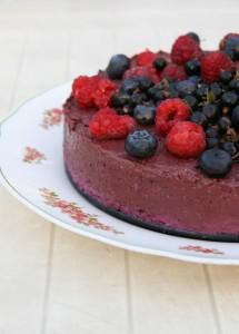 Nyers málnás gluténmentes kakaótorta, gluténmentes sütemény recept