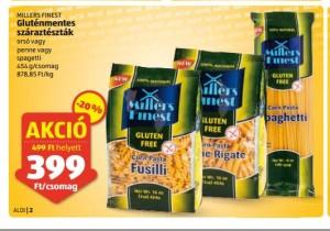 Gluténmenetes tészta akció, gluténmentes száraztészta