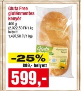 gluténmentes kenyér Gluta free