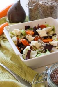 Sült répás-céklás gluténmentes saláta