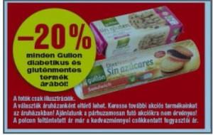Spar Gullon gluténmentes kekszek akciója