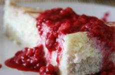 Málnás gluténmentes sajttorta