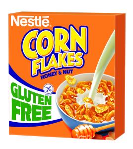 Nestle gluténmentes CornFlakes mézes-mogyorós kukoricapehely