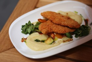 Drop gluténmentes étterem panírozott csirke
