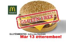 Már 13 hazai McDonald's étteremben lehet gluténmentes sajtburger fogyasztani