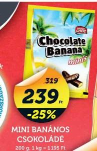 gluténmentes csokoládés banán