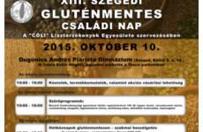 XIII. szegedi gluténmentes családi nap - 2015.10.10