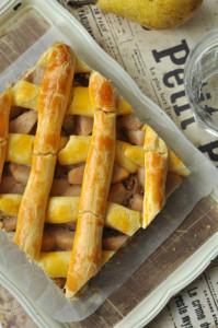 Dióhabos-körtés gluténmentesen rácsos süti - rácsos sütemény