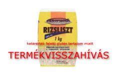 Rizsliszt termékvisszahívás - Szarvasi rizslisztek