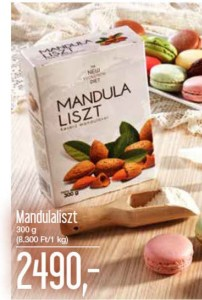 Mandulaliszt gluténmentes