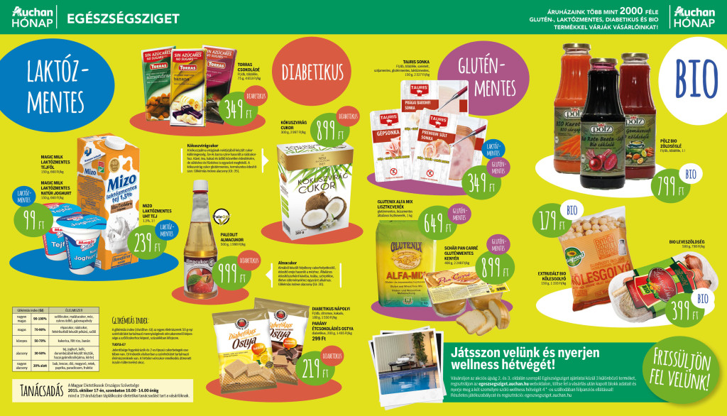 Auchan Egészségsziget - glutánmentes termékek akciója