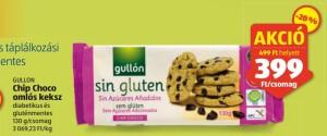 Gullon gluténmentes keksz akció