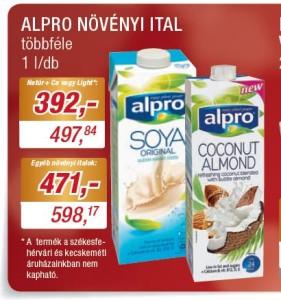 Alpro növényi italok akciója