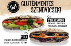 Prémium gluténmentes szendvicsek a Cserpes Tejivókban