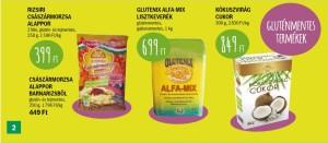Gluténmentes termékek akciói Auchan