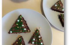 Gluténmentes brownie karácsonyfák