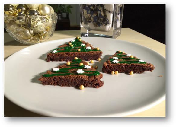 gluténmentes brownie karácsonyi recept