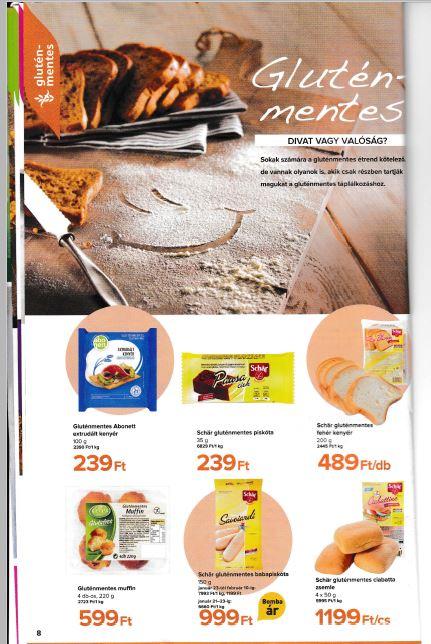 gluténmentes termék akciók TESCO