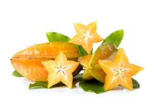 déli gyümölcsök a rostpótlásban, star fruit - carambola, csillaggyümölcs