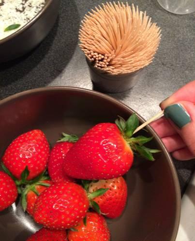 Strawberry Pops készítés