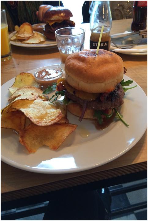 Stika gluténmentes hamburger