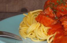 Paradicsomos sonkás gluténmentes spagetti