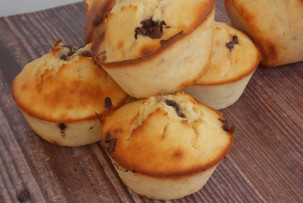 banános gluténmentes muffin csokival