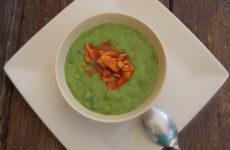 Zöldborsó főzelék gluténmentesen elkészítve