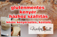 Gluténmentes kenyér sütés, kóstoló és kenyér házhoz szállítás