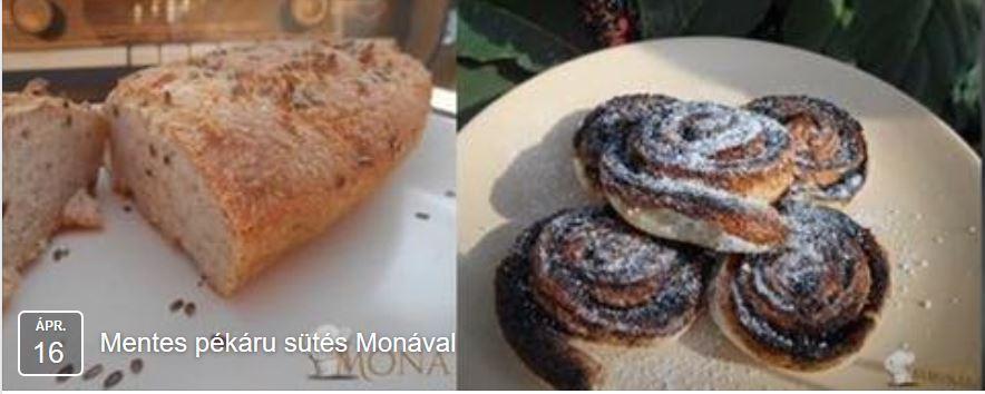 mentes pékáru sütés Monával